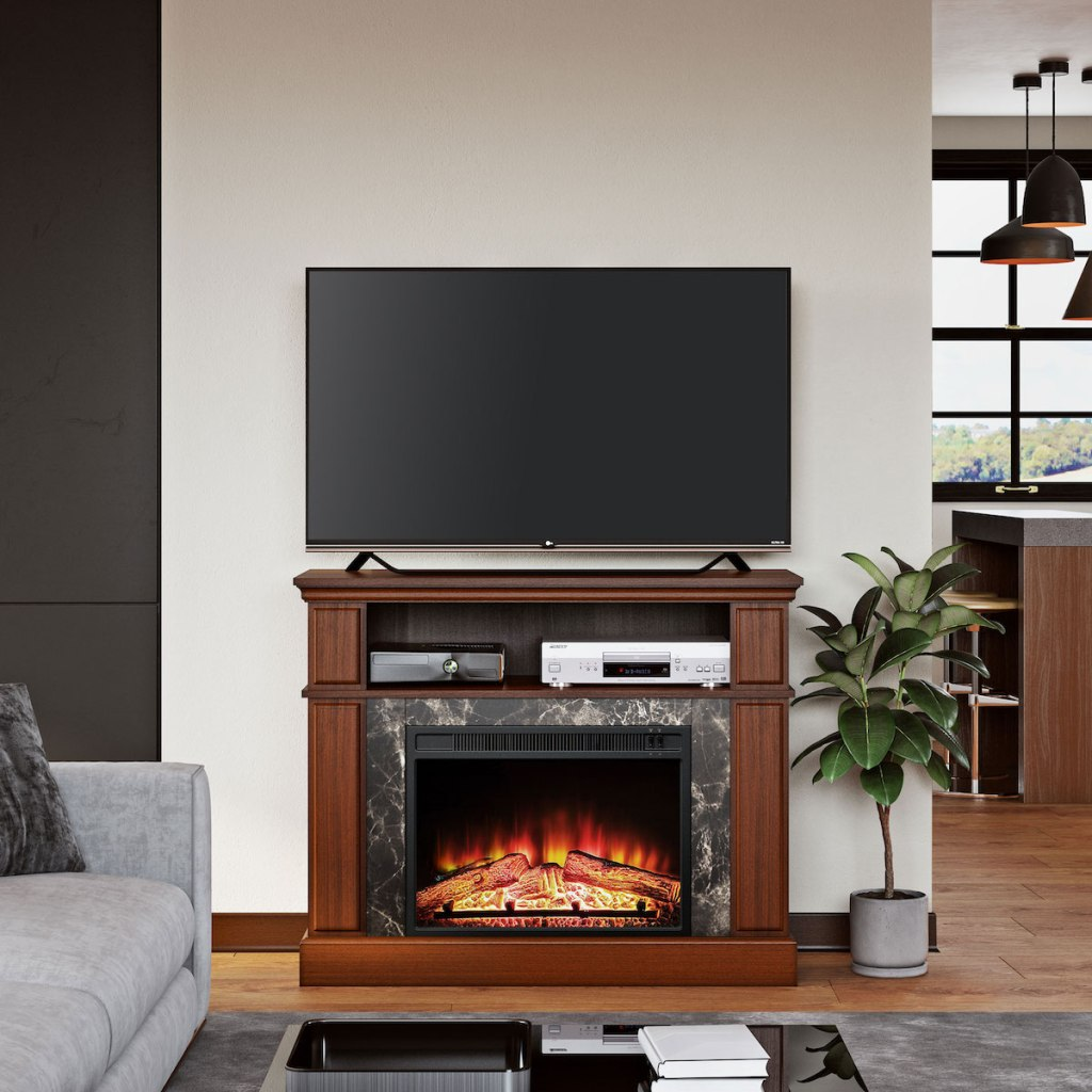 Tremendous Up To 80 Off Electric Fireplace Tv Stands At Walmart Free Download Free Architecture Designs Terstmadebymaigaardcom