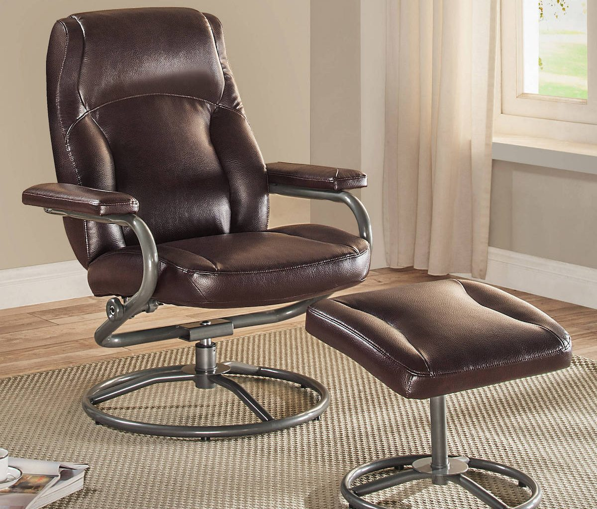 Mainstays recliner and ottoman