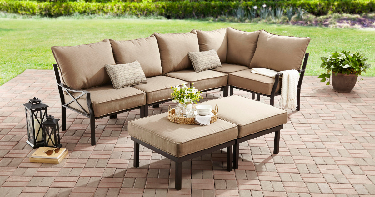 mainstays 7 piece outdoor patio coversation set