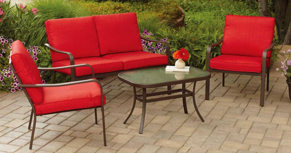 Mainstays 4 Piece Cushioned Patio Set Under 200 Shipped More