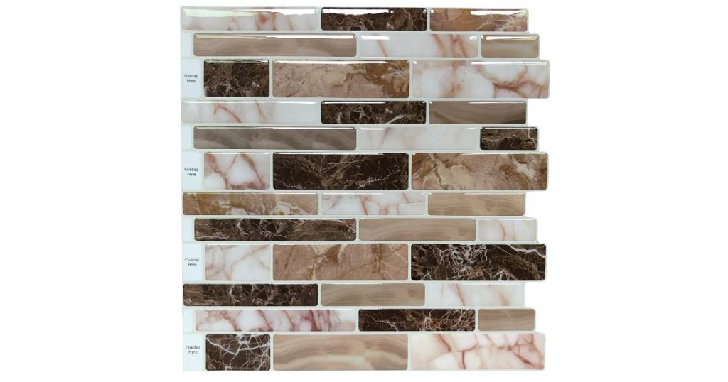 peel & stick marble kitchen backsplash