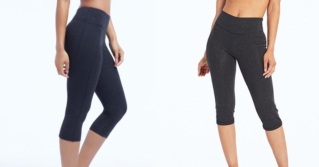 women wearing cropped leggings