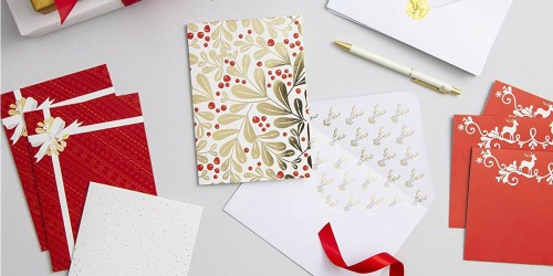 Martha Stewart Holiday Card Kits as Low as $2 (Ships w/ $25 Amazon Order)
