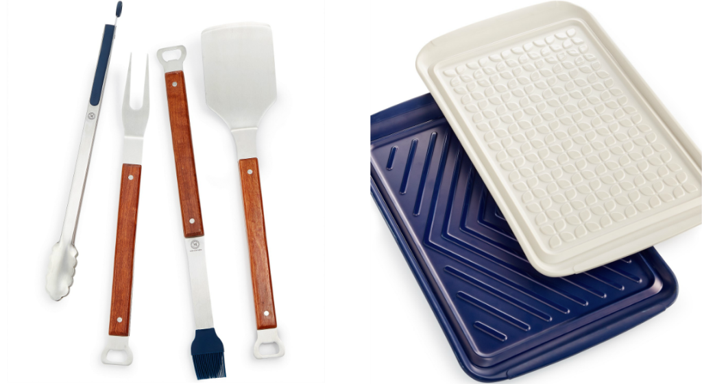 Grilling Utensils and Serving Trays