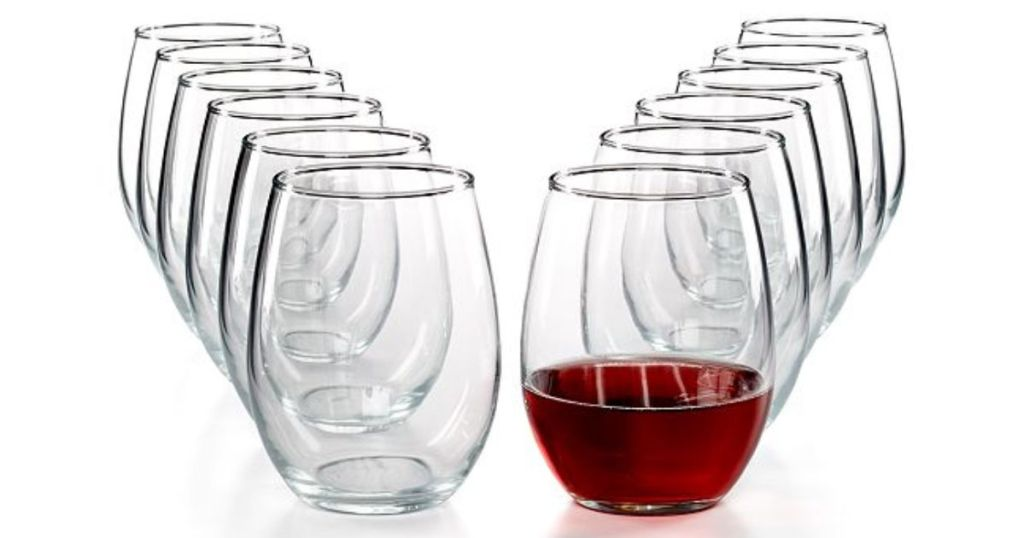 martha stewart stemless wine glasses macys