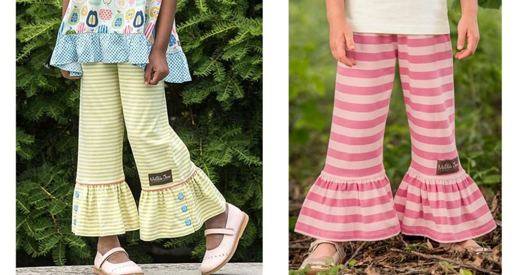 girls in Matilda Jane ruffled pants