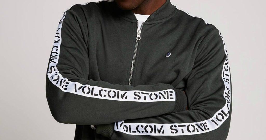 man wearing Volcom jacket