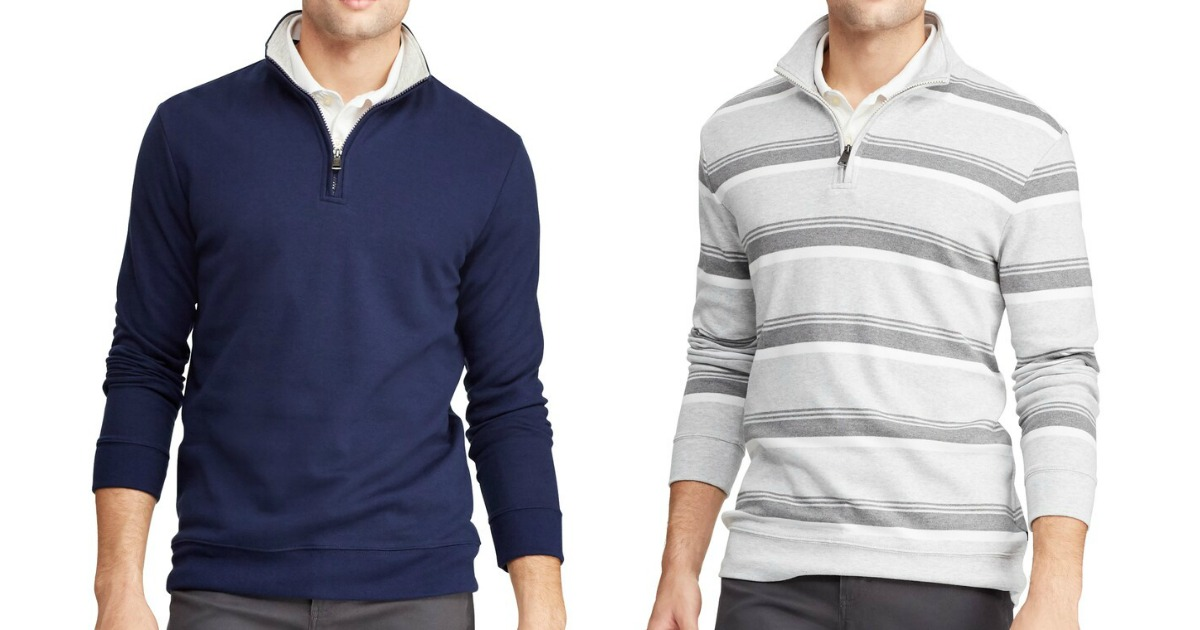 man wearing blue pullover and another man wearing white and gray striped pullover