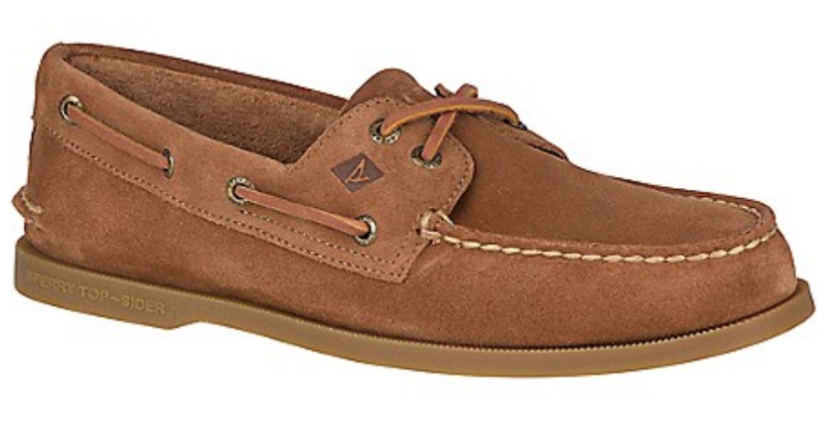 brown Men's Sperry Authentic Original Suede Boat Shoe