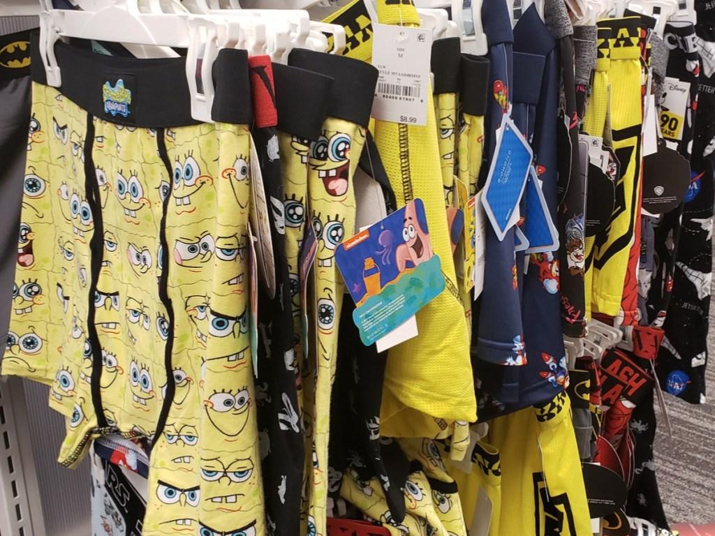 Men's SpongeBob SquarePants Boxer Briefs