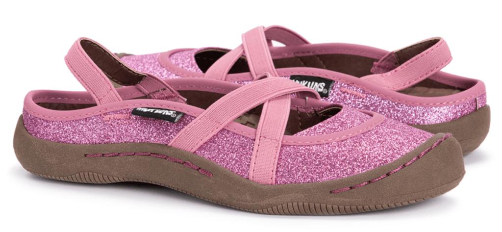 Muk Luks Girls' Pink & Brown Perforated Erin Closed-Toe Sandal