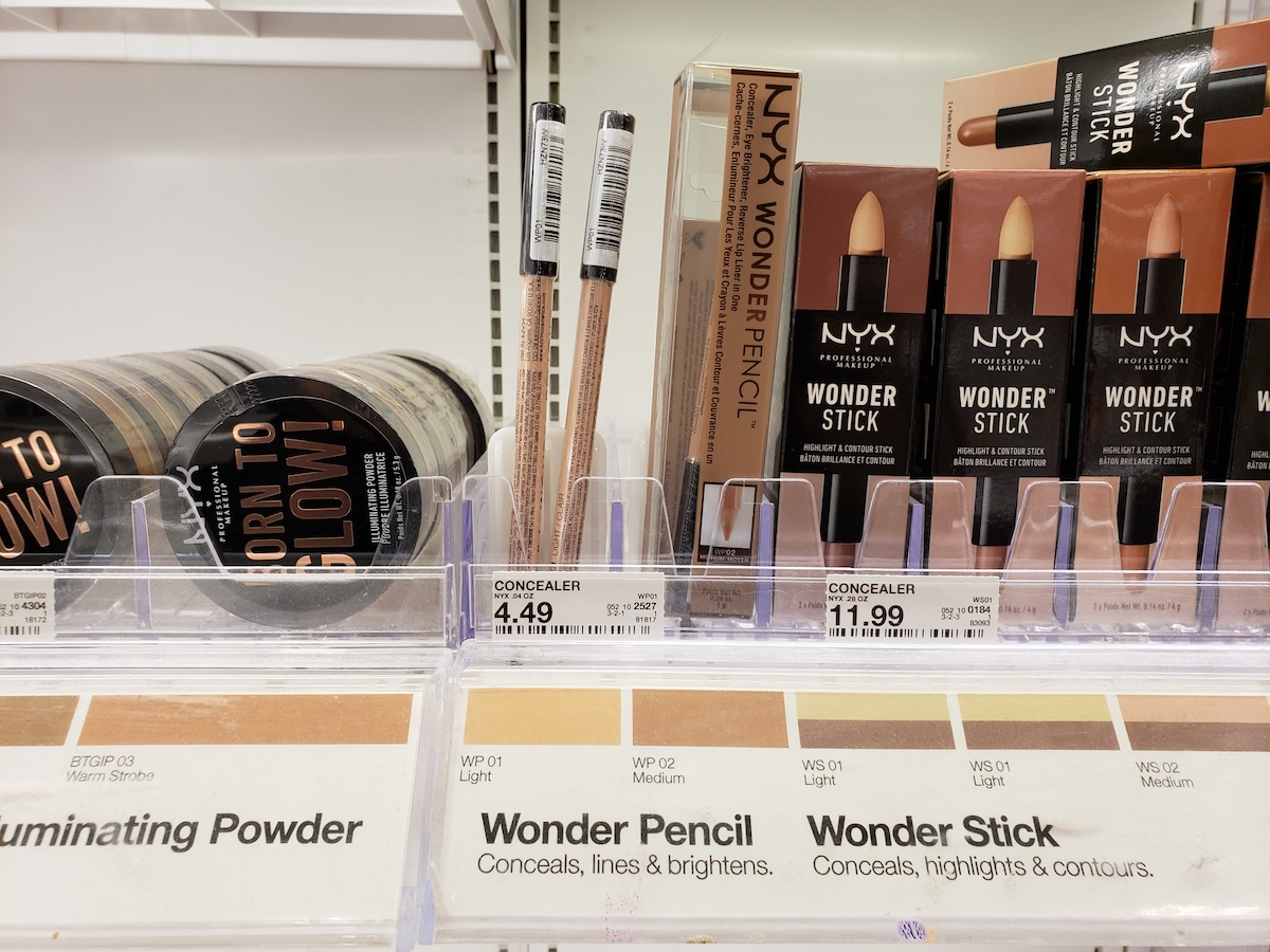 NYX cosmetics at Target