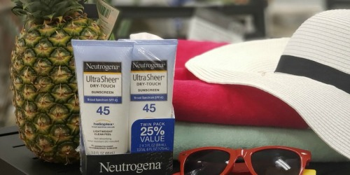 Neutrogena Ultra-Sheer SPF 45 Sunscreen 2-Pack Only $8.39 Shipped on Amazon (Just $4.20 Each)