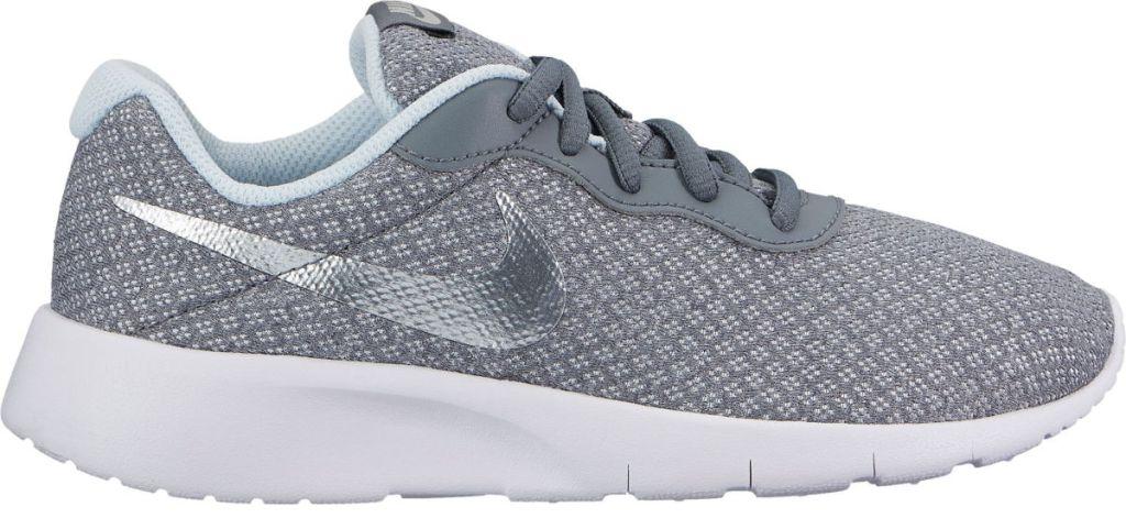 Nike Kids Grade School Tanjun Shoes in Grey/Silver