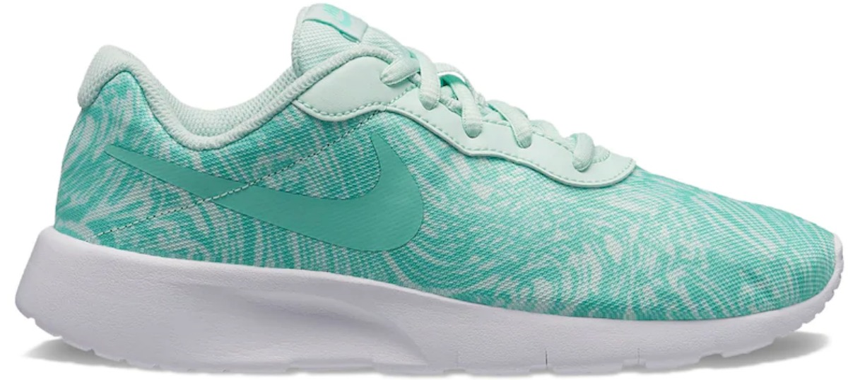 seafoam green nike girl's shoes with white sole