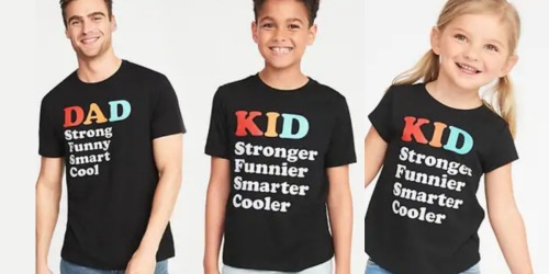 Dad & Mini-Me Graphic Tees as Low as $4 at Old Navy