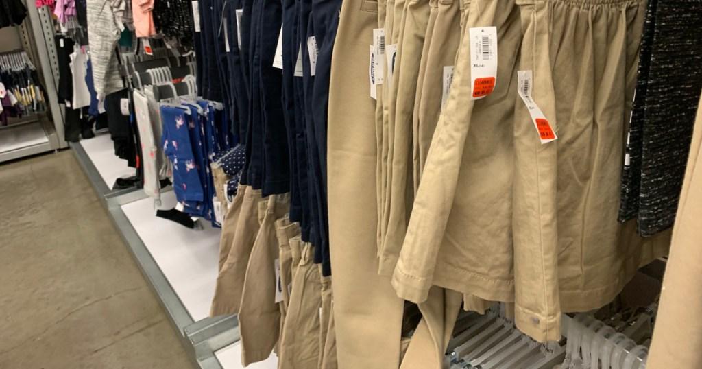 old navy girls uniform shorts