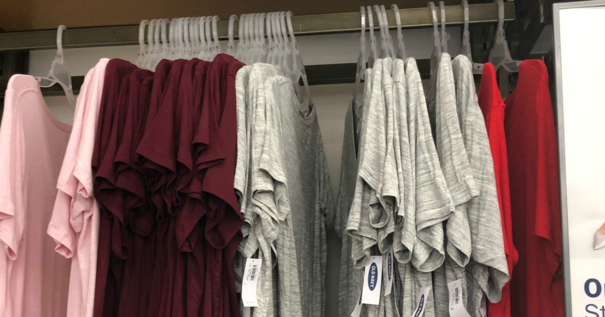 T-Shirts on rack at store