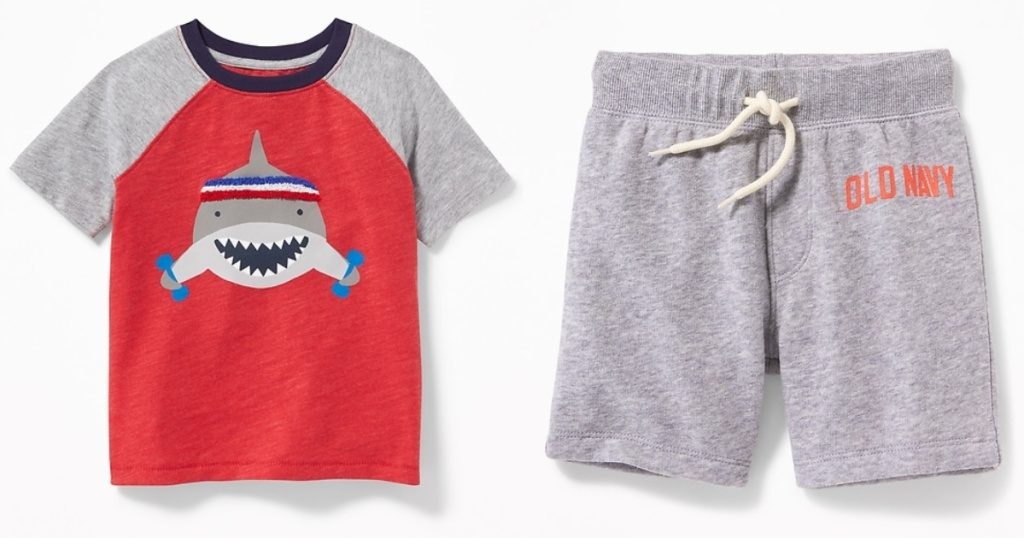 Old Navy Toddler Boys Graphic T and Shorts