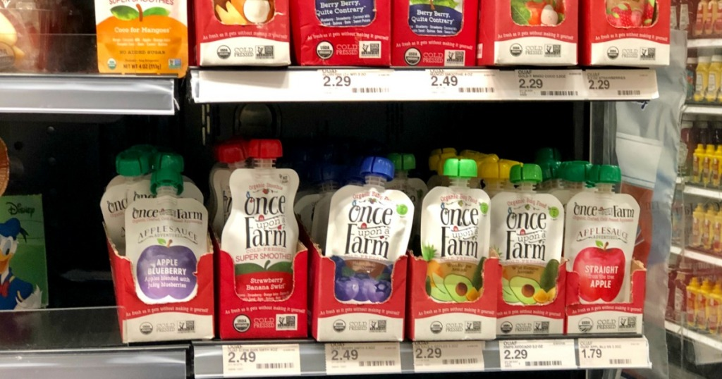 50 Off Once Upon A Farm Organic Pouches At Target Hip2save