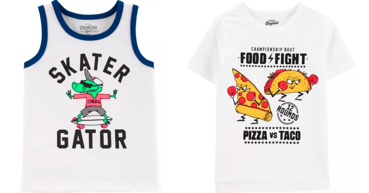 kids tank top and t-shirt