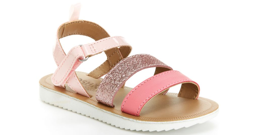 oshkosh girls pink glitter sandals zulily