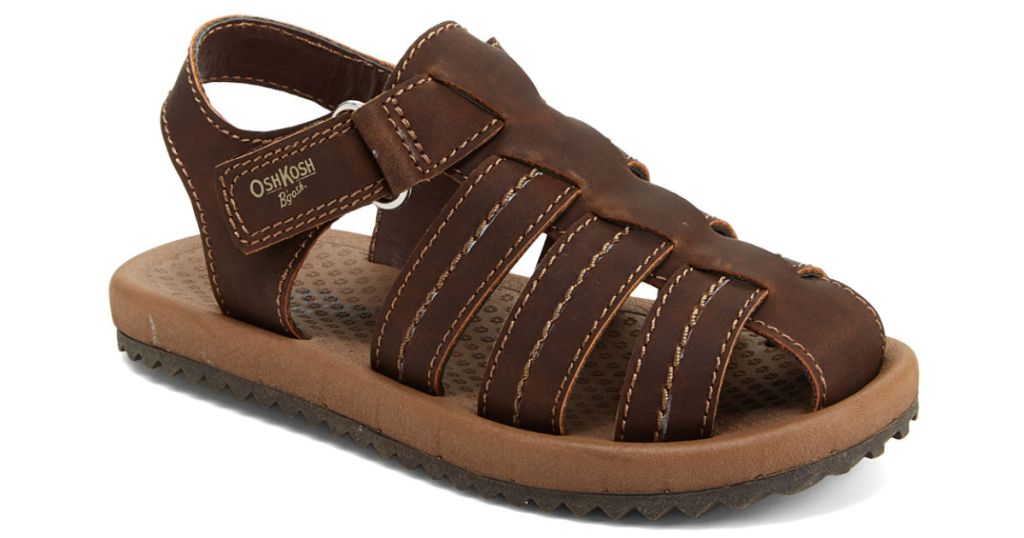 oshkosh boys brown callum sandals zulily