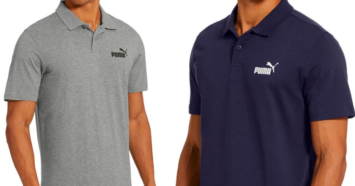 men wearing puma polo shirts