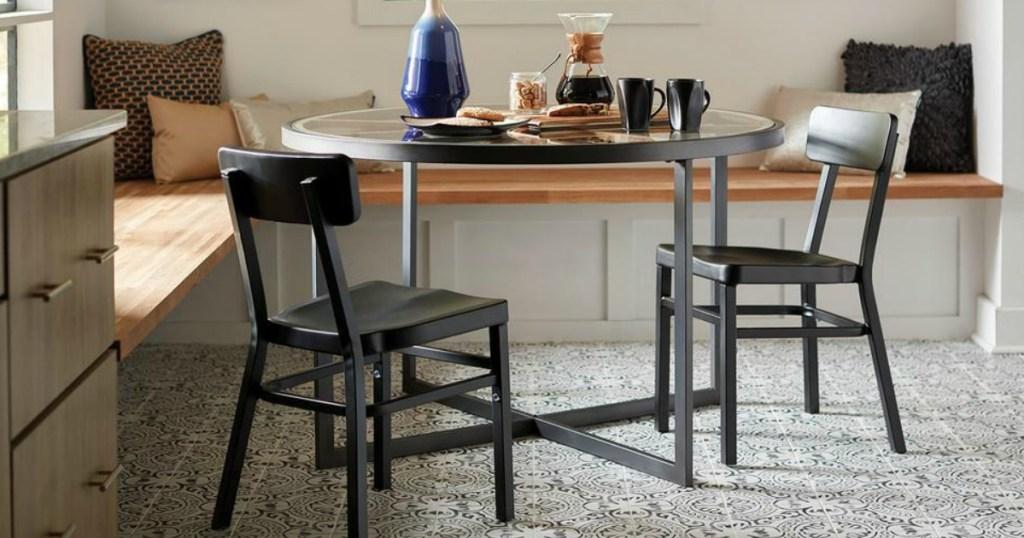 gorgeous paloma tile under kitchen table