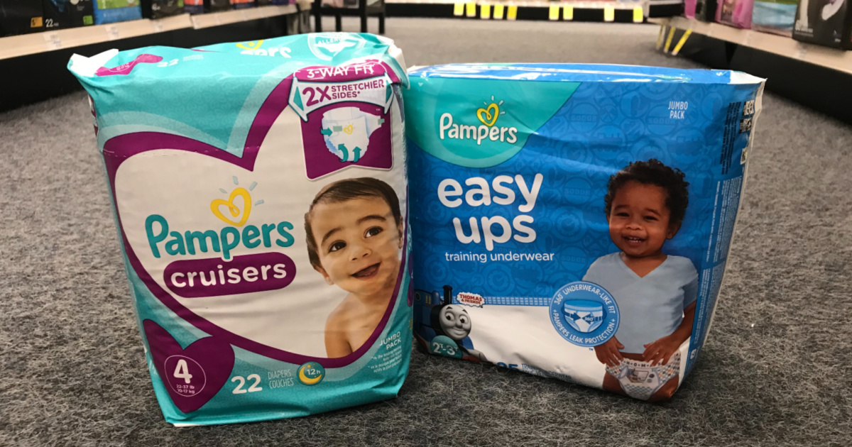 Pampers Diapers on carpet