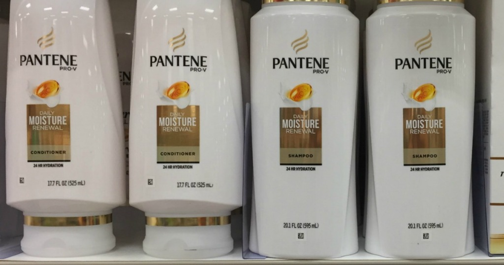 Pantene Pro-V Daily Moisture Shampoo and conditioner on shelf