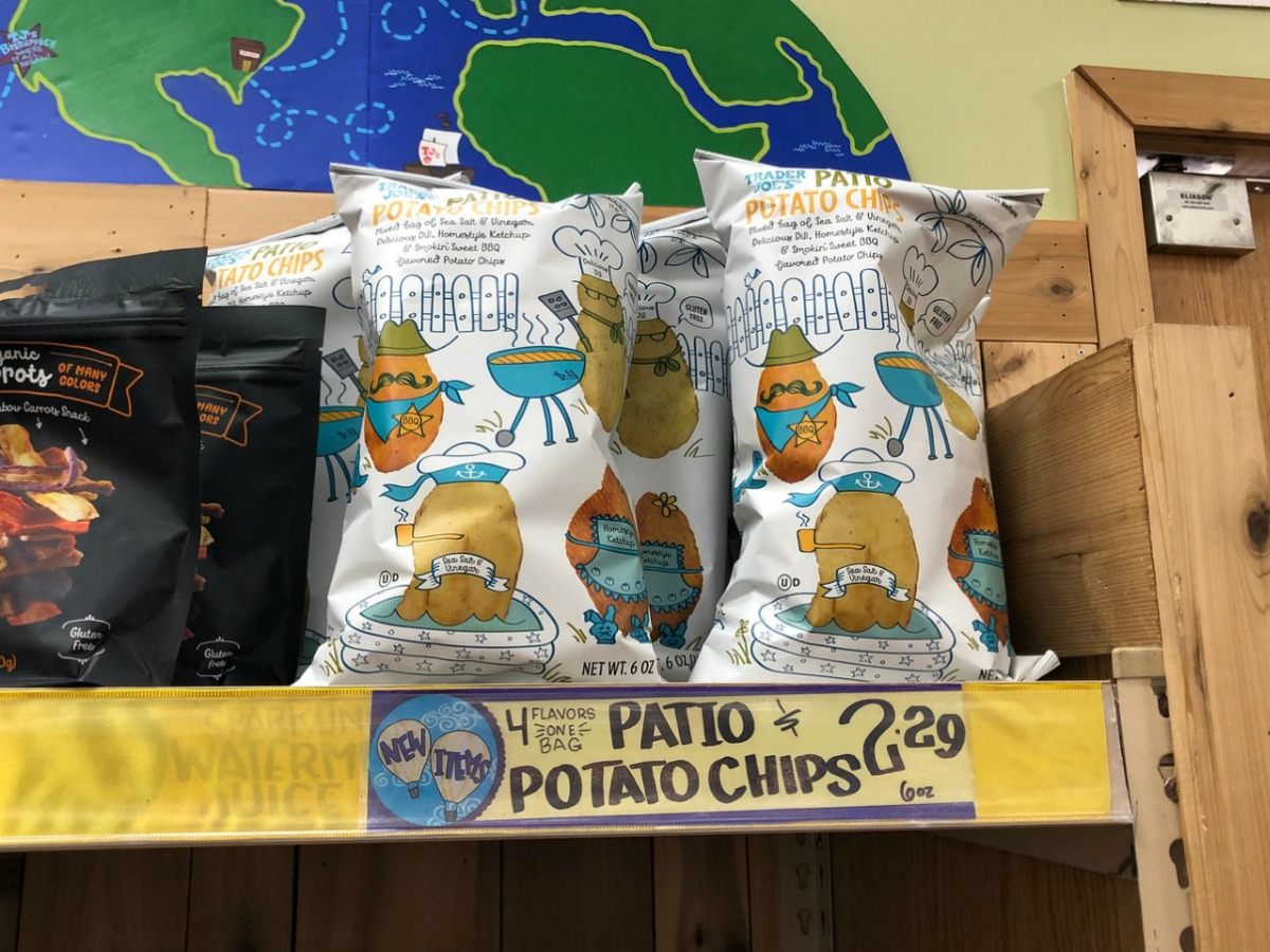 trader joes potato chips on display
