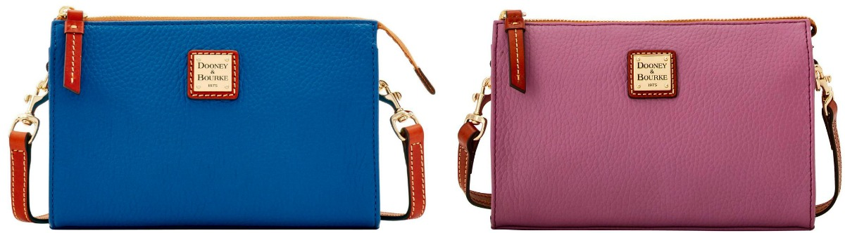 blue and purple dooney & bourke bags