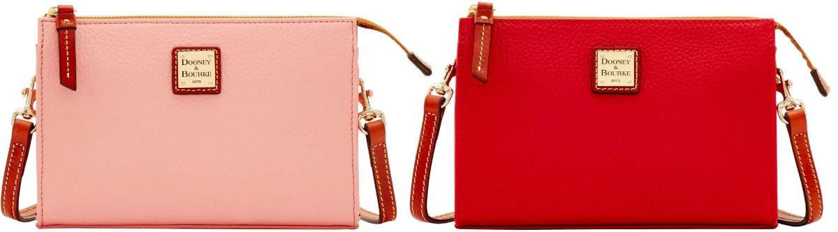 coral and red dooney & bourke bags