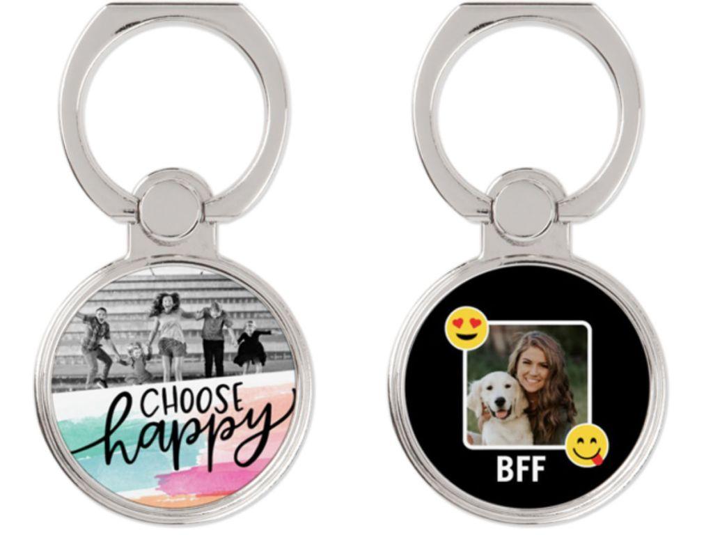 custom phone ring holder choose happy and BFF