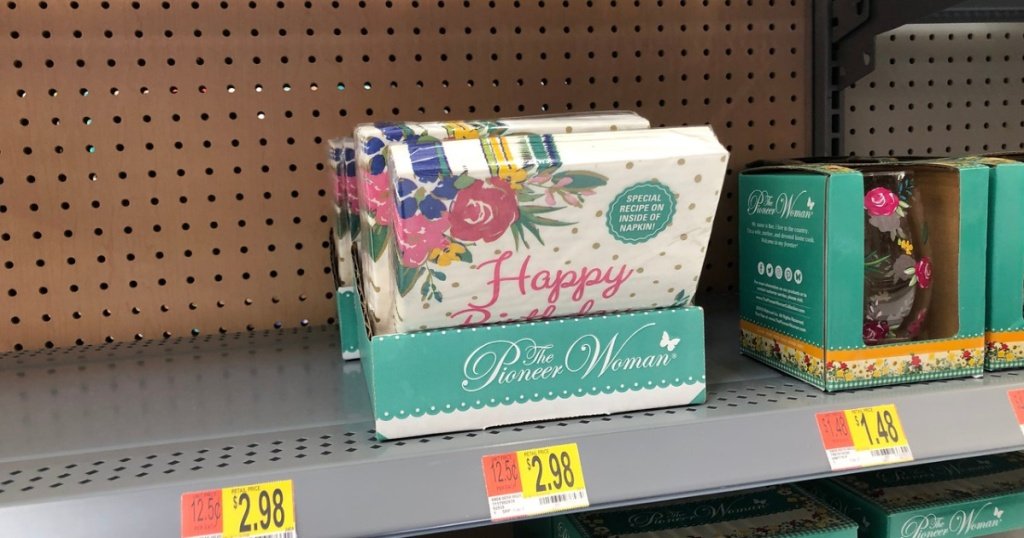 pioneer woman birthday napkins walmart
