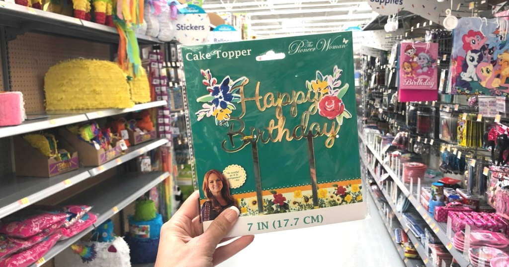 pioneer woman party supplies cake topper at walmart