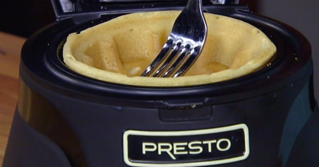 Presto Waffle bowl maker with a fork