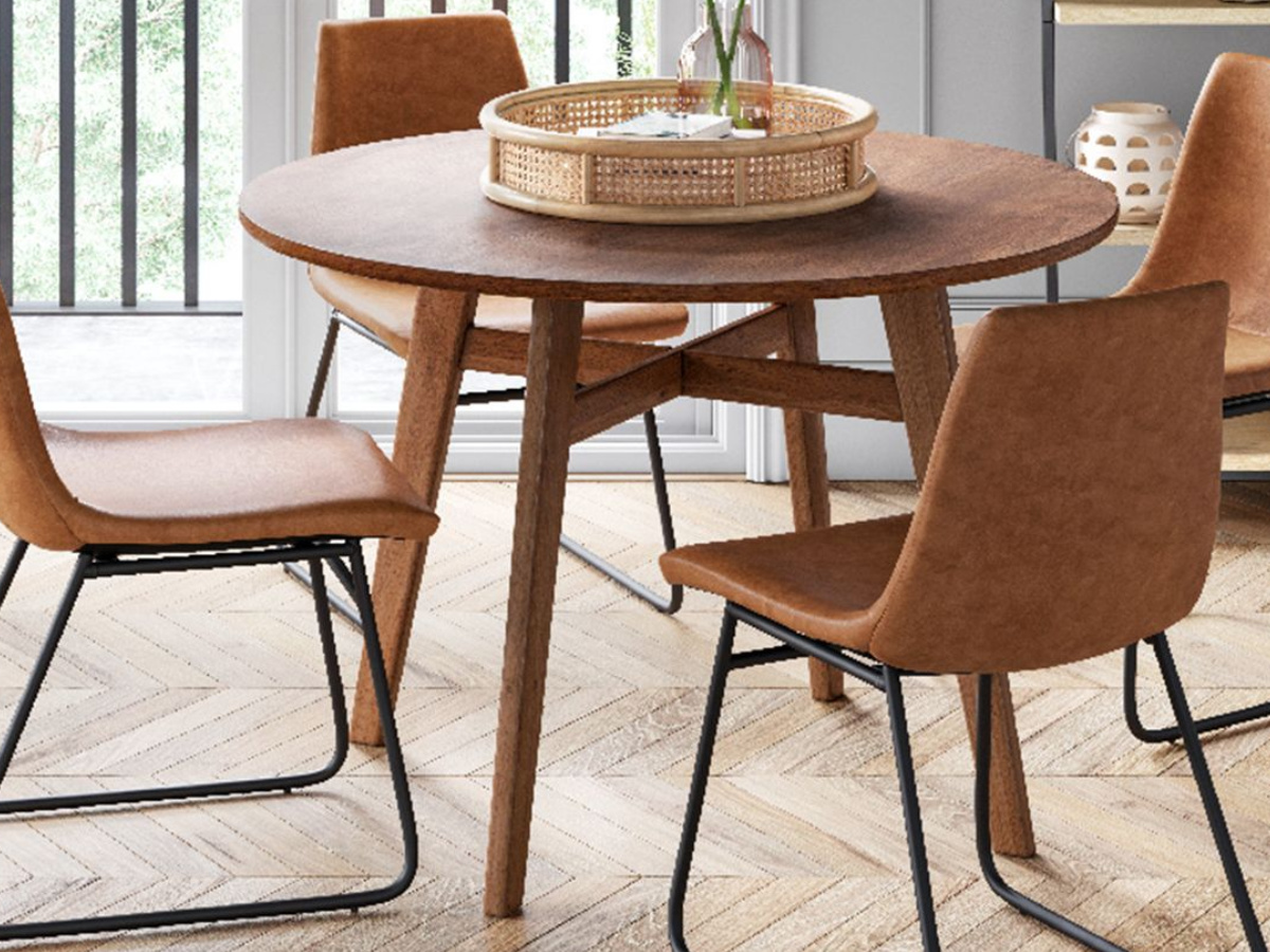 Project 62 Bowden Faux Leather and Metal Dining Chair