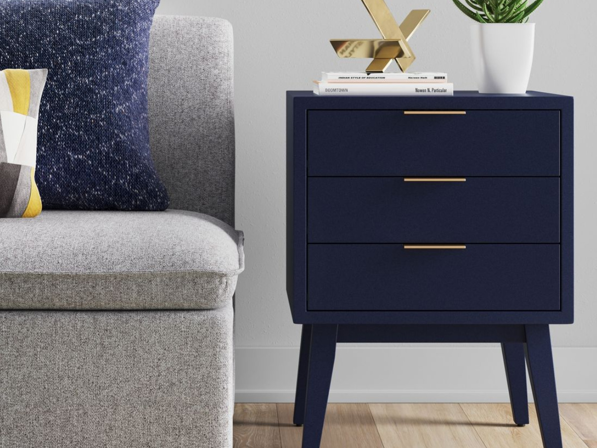 Project 62 Hafley Three Drawer End Table Oxford Blue