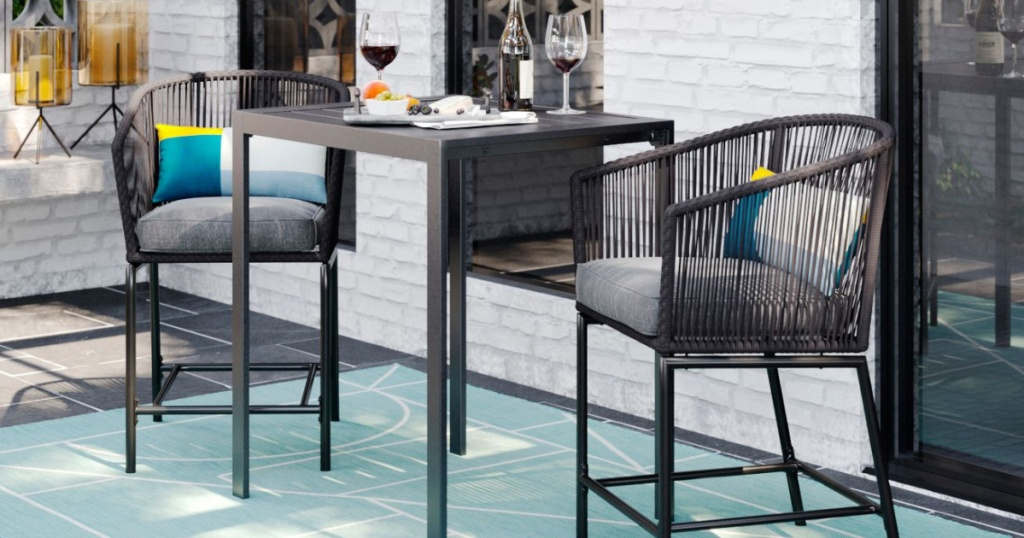 Project 62 Standish 2pk Bar Height Patio Chair Charcoal