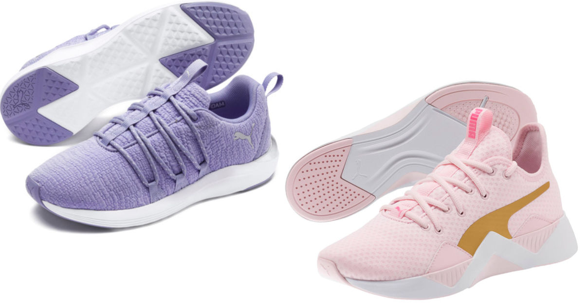 puma purple and pink womens shoes