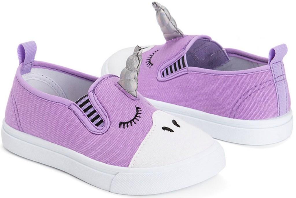 muk luks purple unicorn slip on shoes