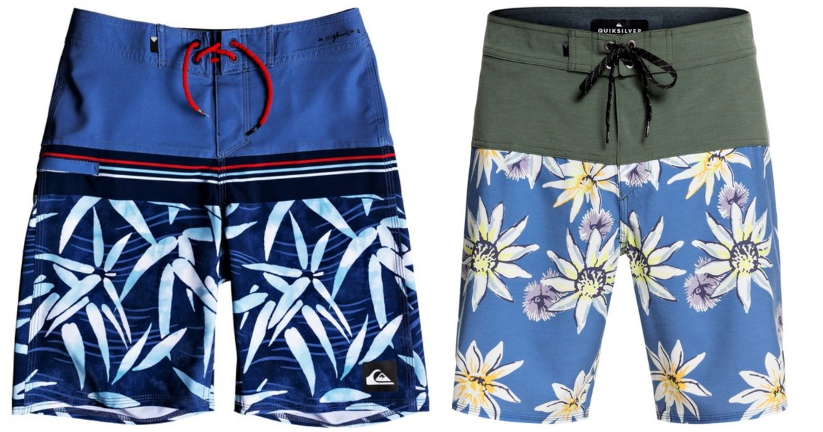 boys and mens quiksilver board shorts