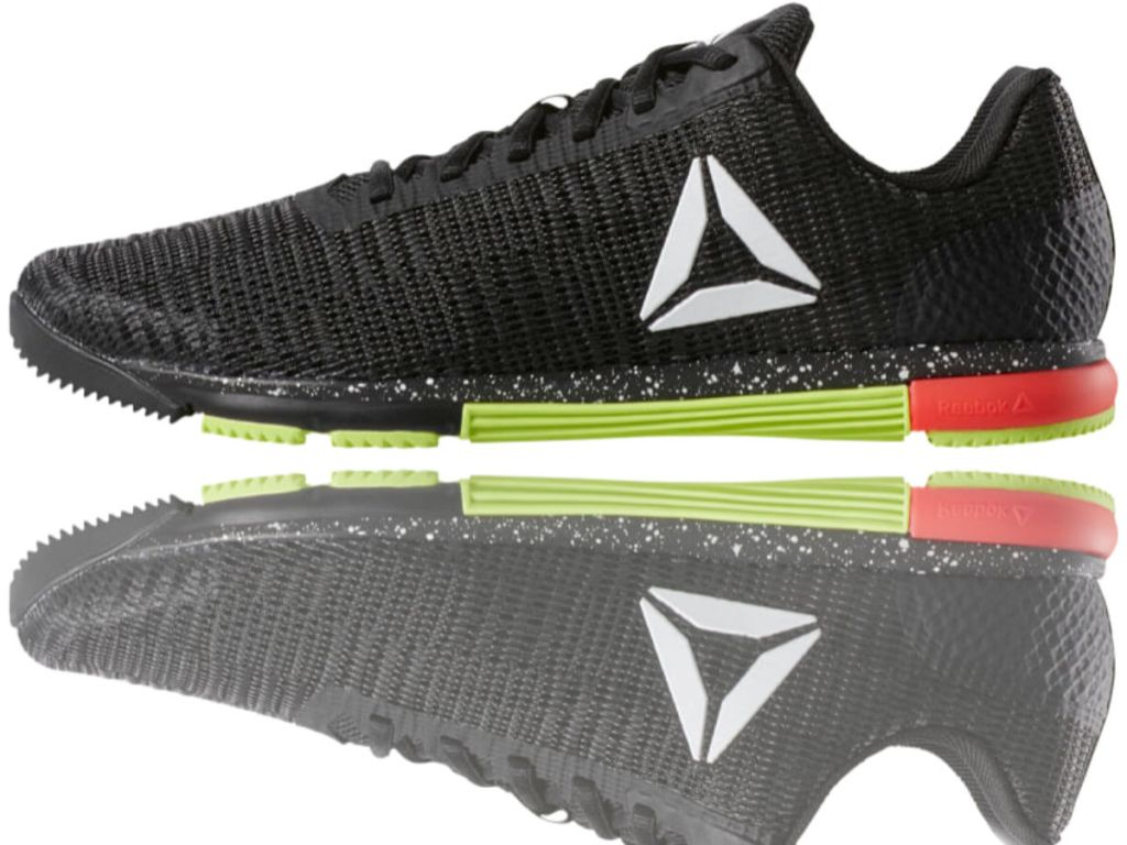 REEBOK SPEED TR FLEXWEAVE in black white neon green and red