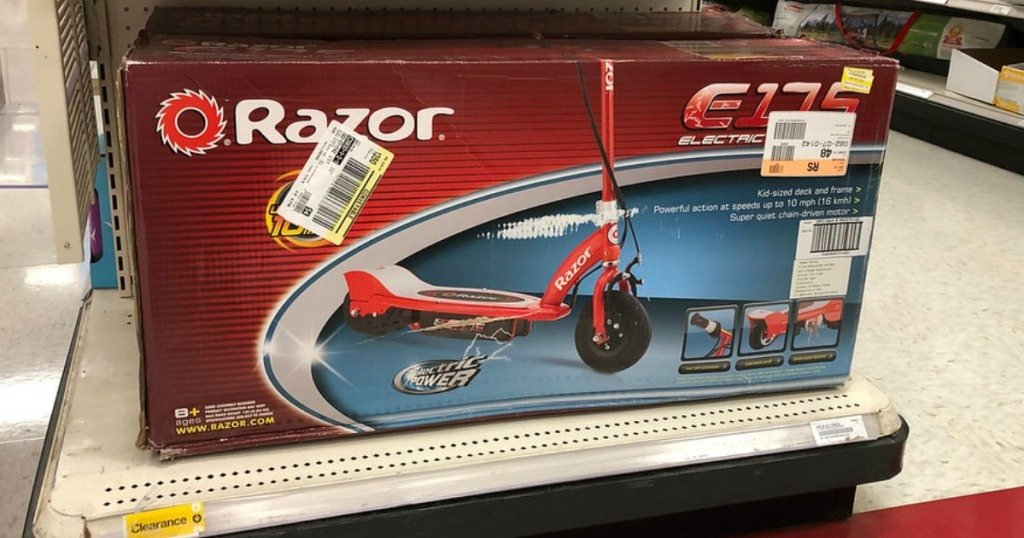 razor electric scooter clearance at target