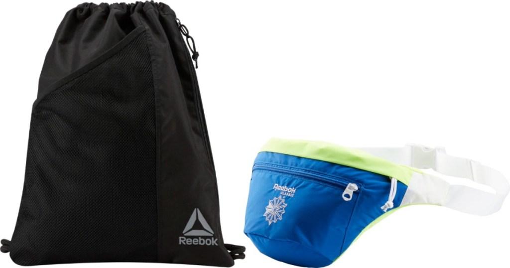 Reebok gym bag and waistpack