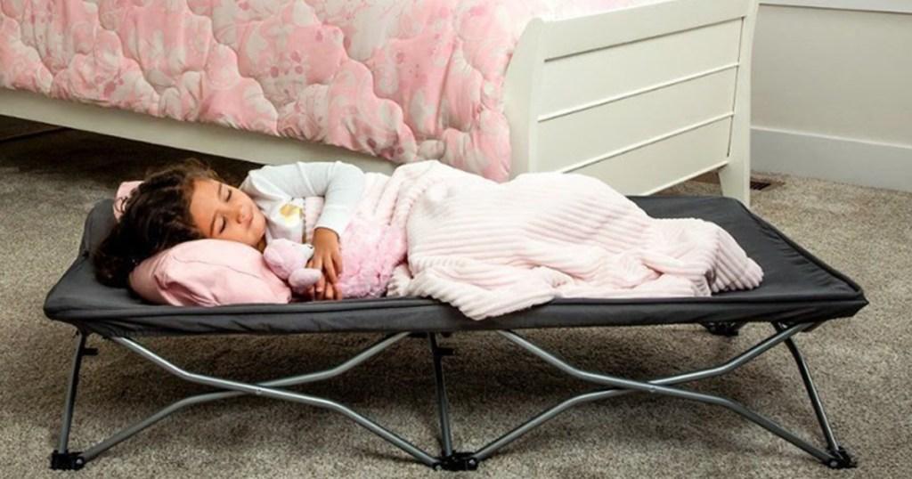 "regalo 54"" portable travel toddler bed set of 2"