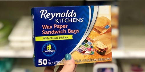 30% Off Reynolds Wax Paper Sandwich Bags at Target | Includes Cute Closure Stickers