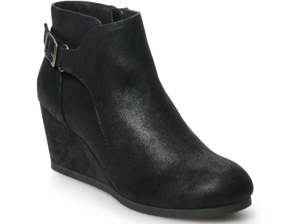 black wedge sonoma boots